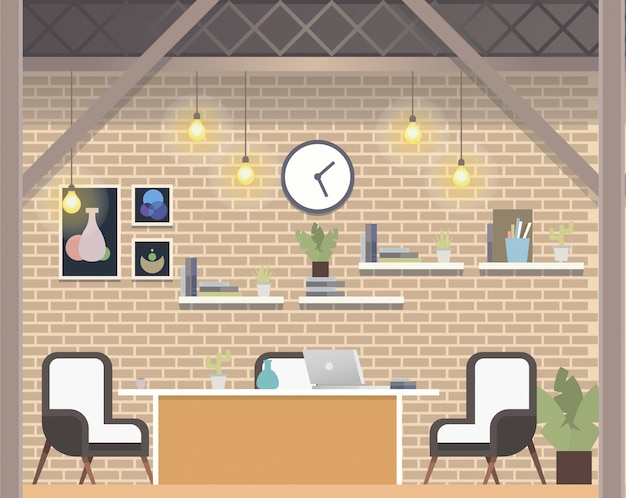 Creatief coworking workspace company, cosy office
