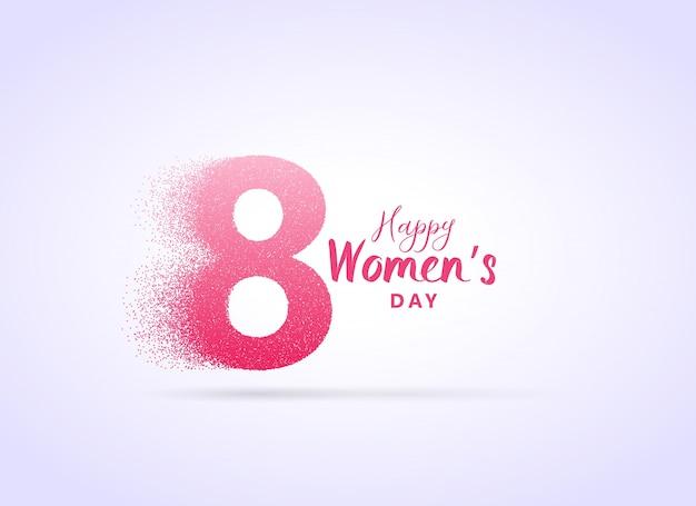 Creatief dames dag ontwerp met letter 8 gemaakt met deeltjes