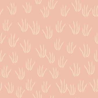 Creatief doodle gras naadloos patroon