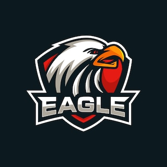 Creatief eagle head mascot-logo