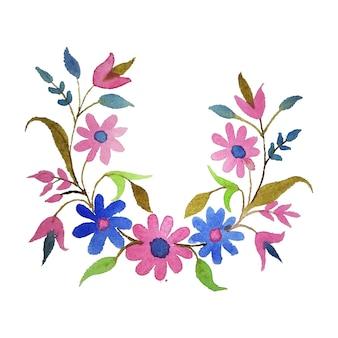 Creatief en kleurrijk aquarel bloemenbloemontwerp voor uitnodigings- en feestkaartontwerp