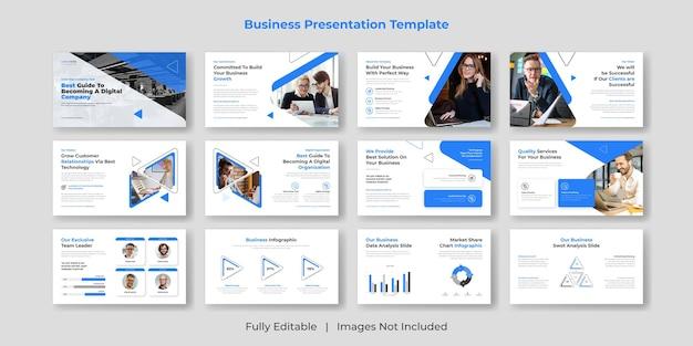 Creatief en modern zakelijk powerpoint-presentatiediasjabloon decorontwerp