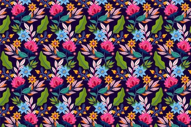 Creatief exotisch bloemenpatroon