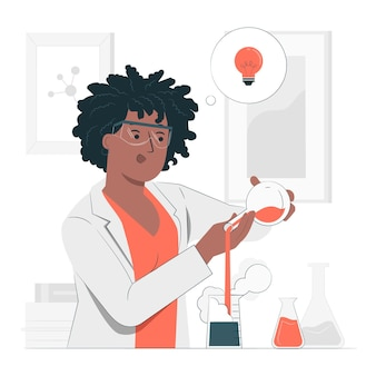 Creatief experiment concept illustratie