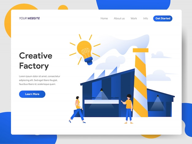 Creatief fabrieksconcept