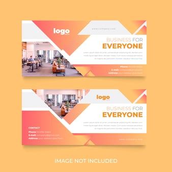 Creatief facebook cover template-ontwerp