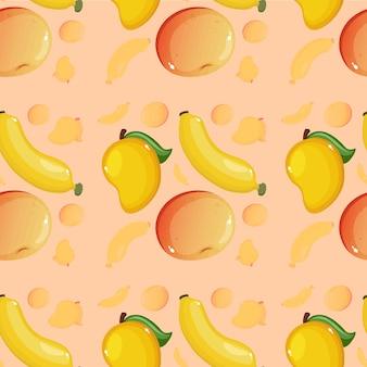 Creatief fruitpatroon achtergrondbehang