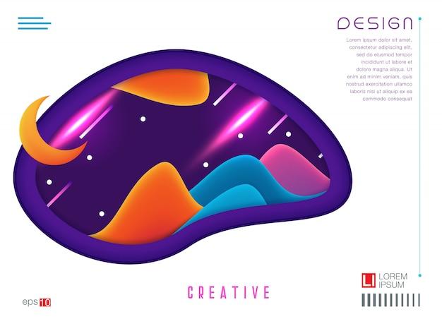 Creatief geometrisch behang