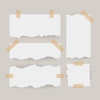 Creatief gescheurd papier met tape set