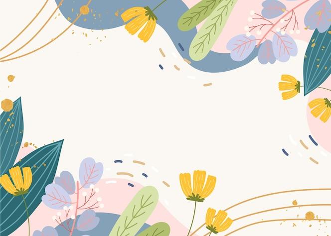 Creatief getekend lente behang