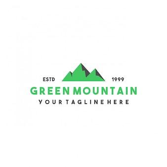 Creatief groen berglogo-ontwerp
