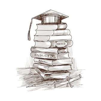 Creatief handgetekend onderwijs boek schetsontwerp