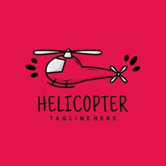 Creatief helikopter illustratie logo ontwerp