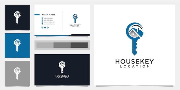 Creatief huis en sleutel logo ontwerpsjabloon