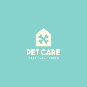 Creatief huisdier kliniek huis logo