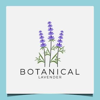Creatief idee schoonheid botanische lavendel logo ontwerpsjabloon