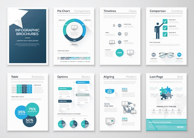 Creatief infografisch vectorconcept. zakelijke grafische brochures