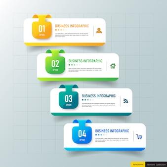 Creatief infographic 4 stappen sjabloon