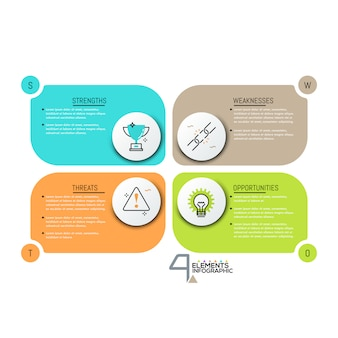 Creatief infographic ontwerpsjabloon