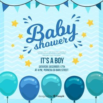Creatief is een sjabloon voor een jongensbaby shower