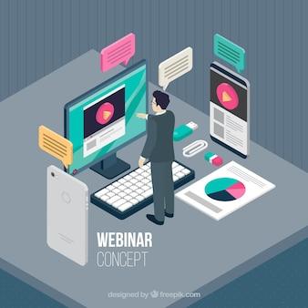 Creatief isometrisch webinar concept