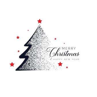 Creatief kerstboom ontwerp gemaakt met stippen achtergrond