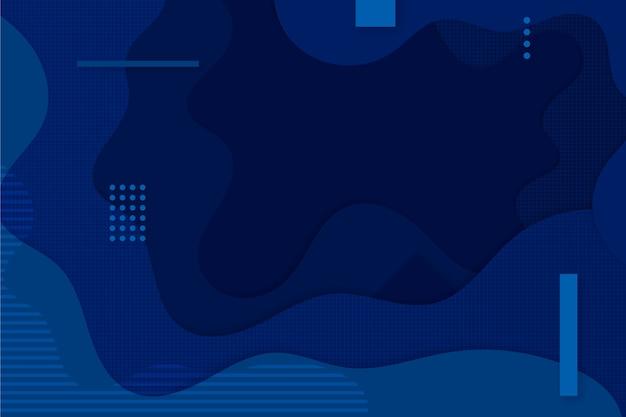 Creatief klassiek blauw behang