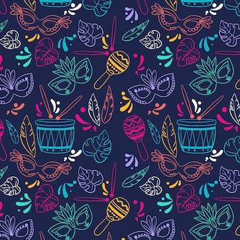 Creatief kleurrijk braziliaans carnaval-patroon