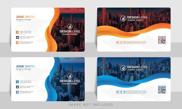 Creatief kleurrijk modern visitekaartje