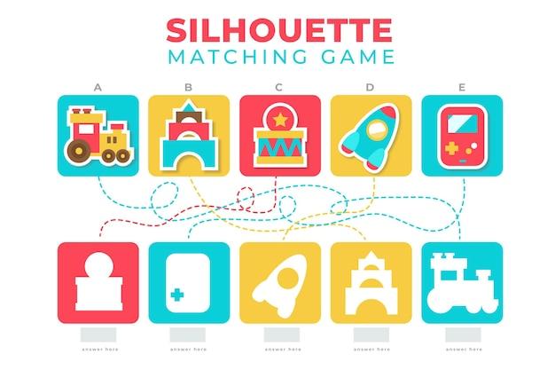 Creatief kleurrijk wedstrijdspel