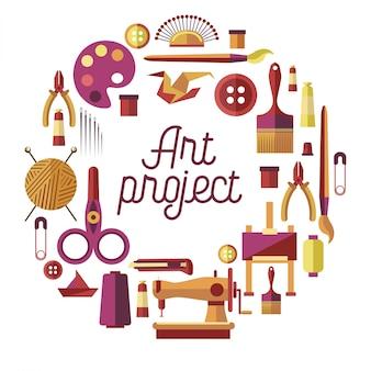 Creatief kunstproject