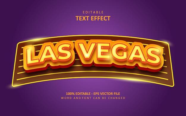 Creatief las vegas teksteffect