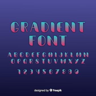 Creatief lettertype in verloopstijl