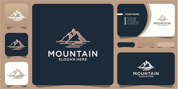 Creatief logo ontwerp berg