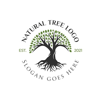Creatief logo ontwerp van het leven van de boom, het pictogram van de boom, het ontwerp van groene tuinelementen