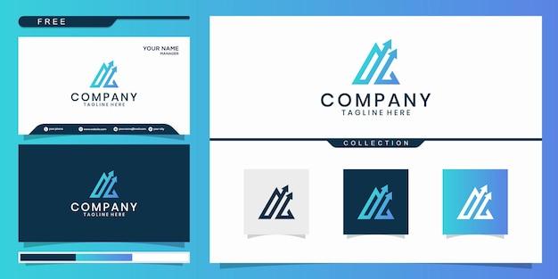 Creatief logo ontwerpconcept. eenvoudig financieel ontwerp