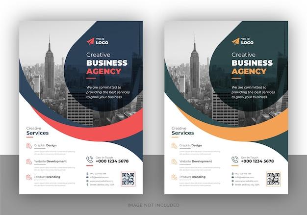 Creatief marketing-promotie-flyerontwerp en brochurevoorbladsjabloon