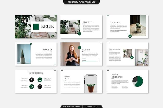 Creatief minimalistisch presentatiesjabloon powerpoint