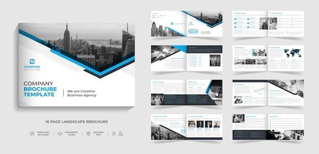 Creatief modern bedrijfslandschapsbrochure met meerdere pagina's sjabloon jaarverslag bedrijfsprofielontwerp