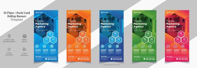 Creatief modern corporate dl flyer design dl flyer-ontwerp roze zakelijke sjabloon voor dl-flyer
