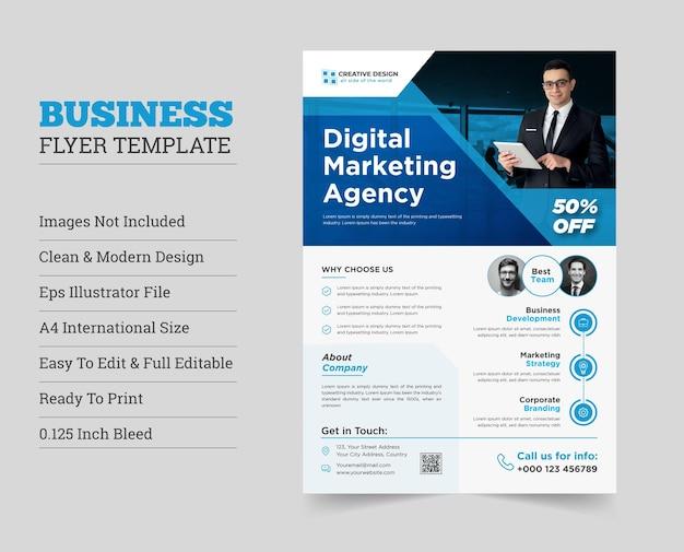 Creatief modern corporate flyer design corporate flyercorporate business flyer design