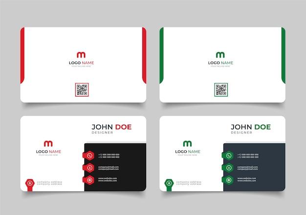 Creatief modern naamkaartje en visitekaartje
