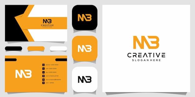Creatief monogram, m gecombineerd met b-logo-ontwerpsjabloon