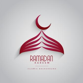 Creatief moskeeontwerp voor ramadan kareem festival