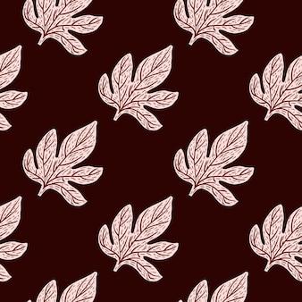 Creatief naadloos patroon met botanisch bladerenornament.