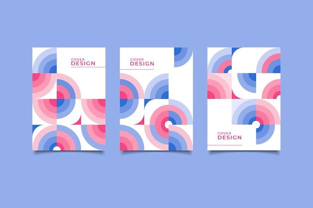 Creatief omslagontwerp retro geometrisch