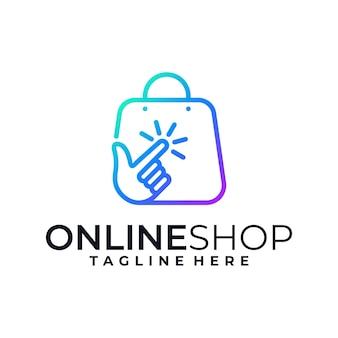 Creatief online winkelen logo-ontwerp
