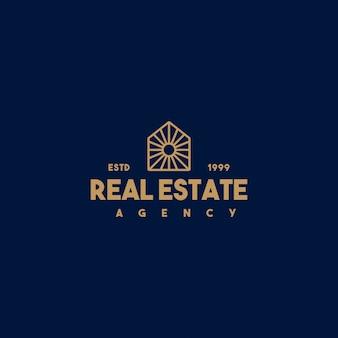 Creatief onroerend goed logo-ontwerp