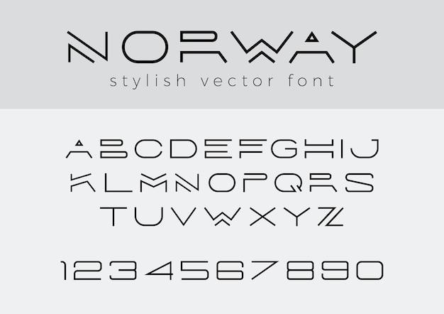 Creatief ontwerp lineair lettertype