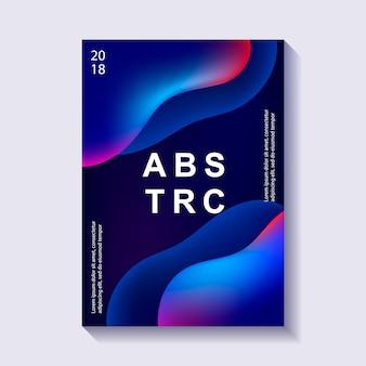 Creatief ontwerp poster met plastic vormen.